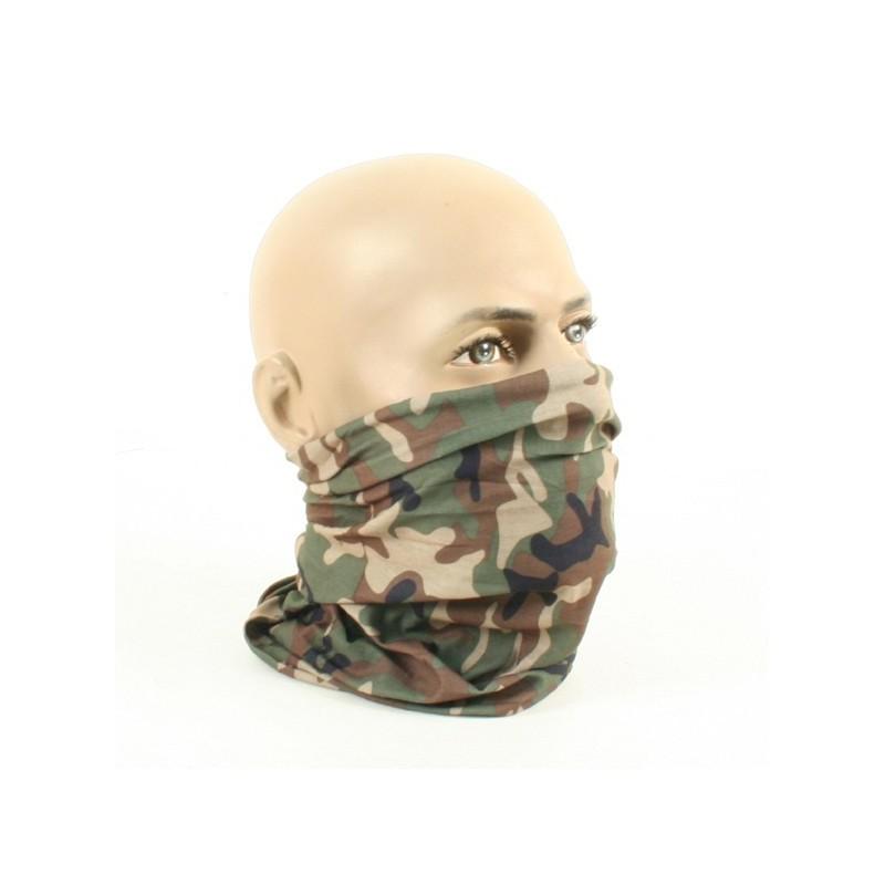 Multifunctional headwear woodland