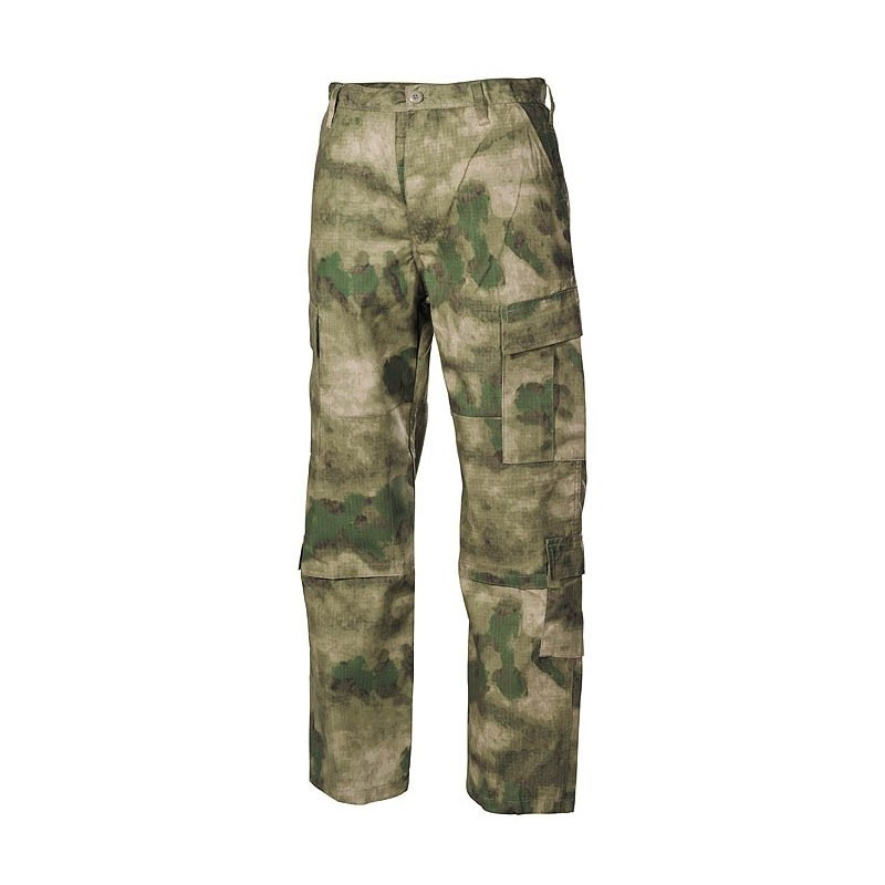 US ACU Field Pants, Rip Stop, HDT camo green