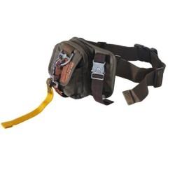"""Хип сумка, нейлон """"PT"""", ОД зеленые, маленькие, карабин"""