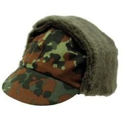 Bundeswehr Winter Cap, flecktarn camo, like new