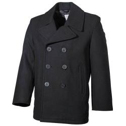 US Pea Coat, mereväe mantel - must