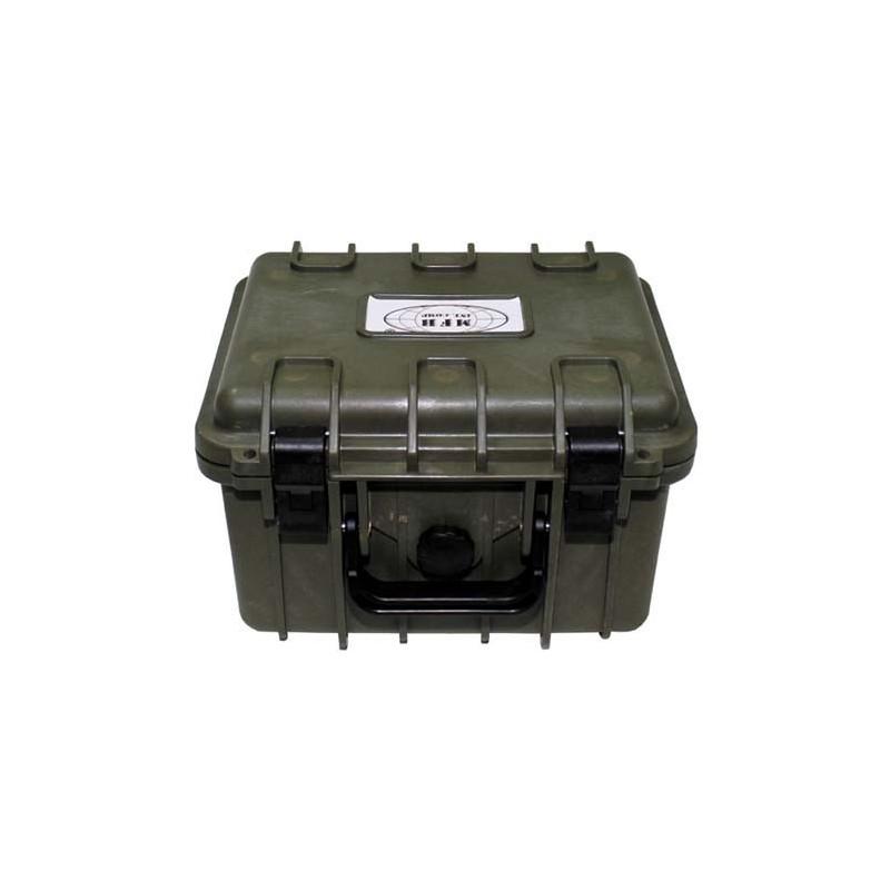 Коробка, пластик, водонепроницаемый, 26,7x23,9x17,6 см, ОД зеленый