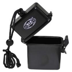 Коробка, пластик, водонепроницаемый, 7 х 2,5 х 11 см, черный