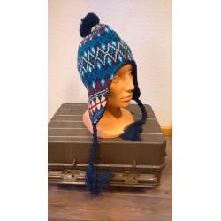 "Hat, ""Peru Callao"", with fleece, blue"