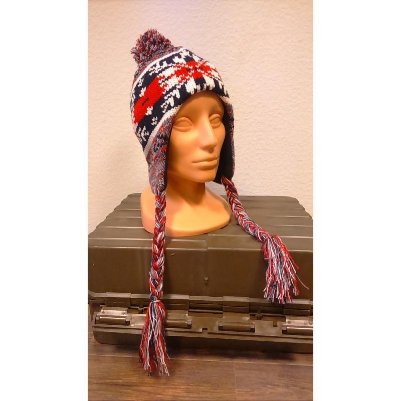 "Hat, ""Peru Cusco"", with fleece, grey/red"