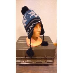"Hat, ""Peru Lima"", with fleece, blue/black"