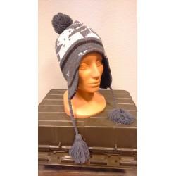 "Hat, ""Peru Lima"", with fleece, white/grey"