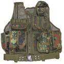 "Vest, ""USMC"", with belt, holster, Bundeswehr camo"