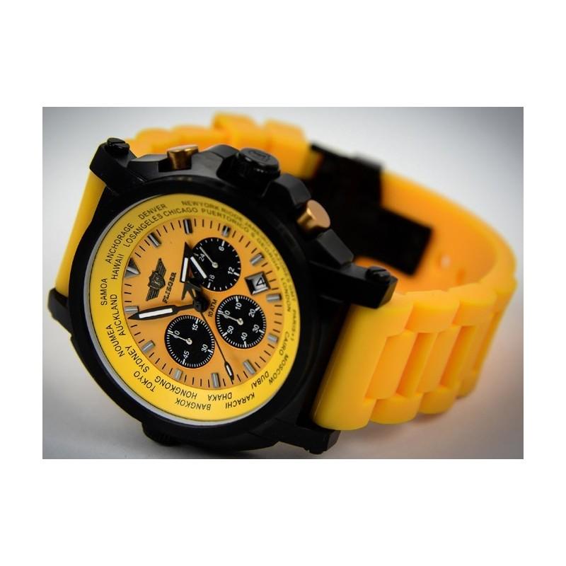 Watch Flieger, Chronograph, yellow