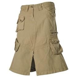 """Skirt, PT """"Cargo"""", khaki-stonewashed"""
