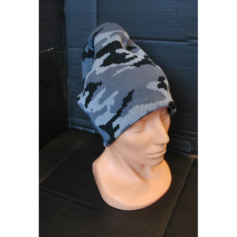"Knitted Hat, ""BEANIE"", Acryl, camo"