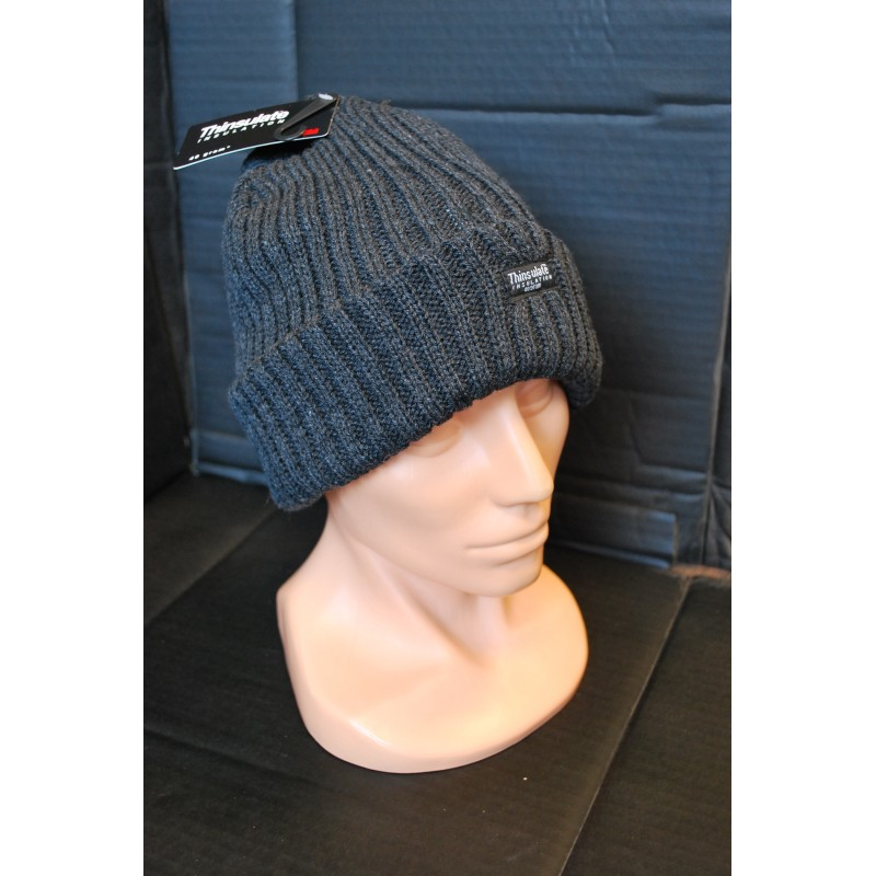 "Зима шапка, ""Аляска"", черный, Thinsulate, темно-серый"