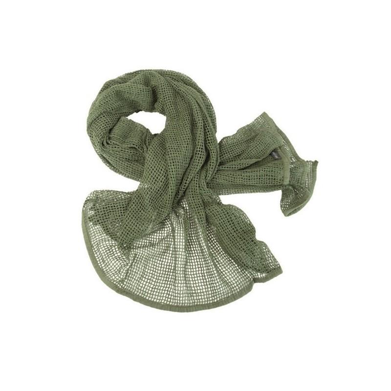 Scarf, mesh, od green, 190x90cm