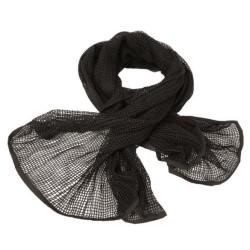 Scarf, mesh, black, 190x90cm