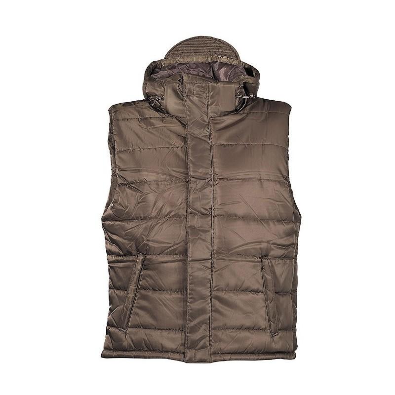 Vest, OD green, lined, detachable hood