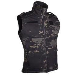 Softshell vest, multitarn black