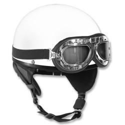Мотоцикл шлем белый яичной скорлупы