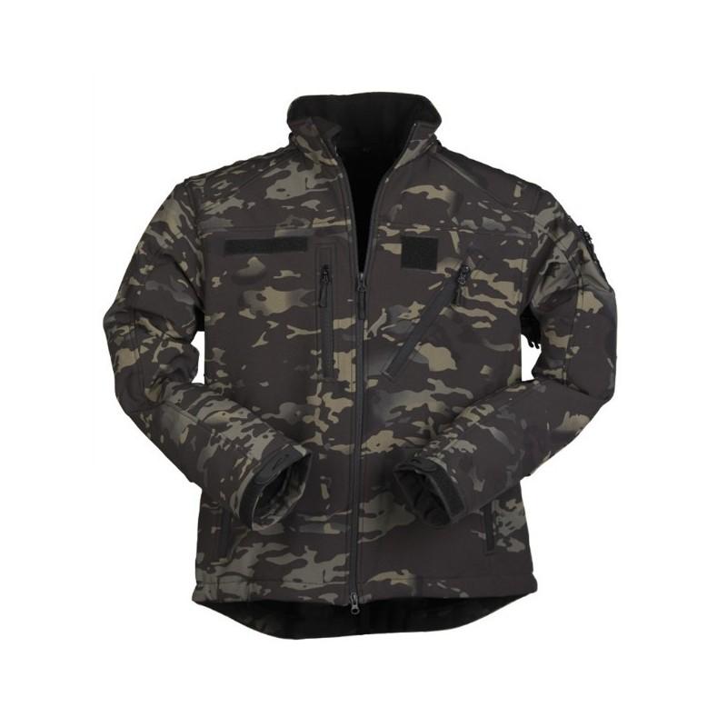 Soft Shell Jacket, SCU 14, multitarn black