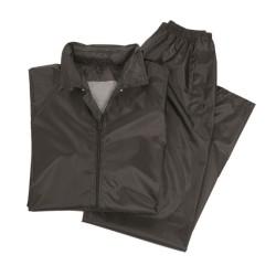 Vihmajope ja püksid, komplekt, must