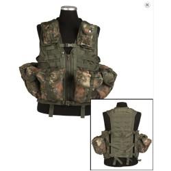 Taktikaline vest modular system (8 taskut), Flecktarn
