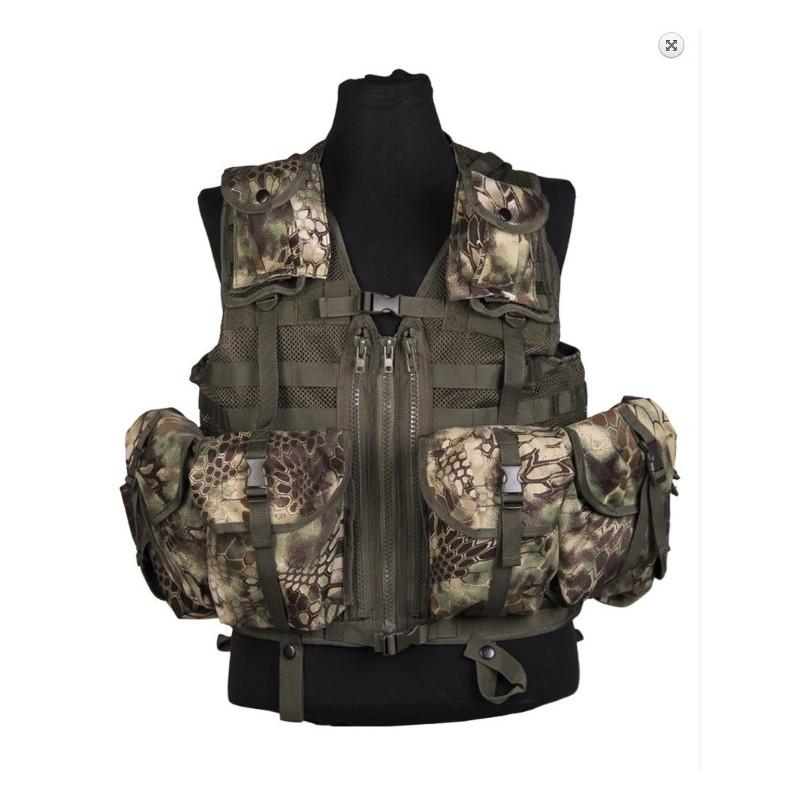 Tactical Vest, mod. system 8 pockets, Mandra wood