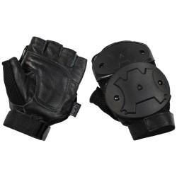 Перчатки без пальцев, защита костяшек, черный