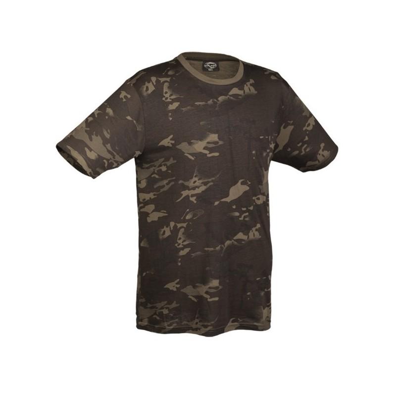 Camo t-shirt, multitarn black
