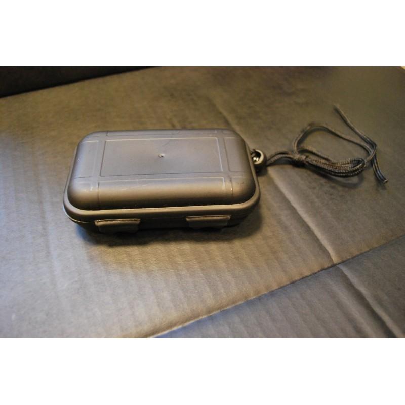 Box, plastic, waterproof, 13,5x8x3,7 cm, black