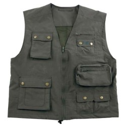Vest Microfiber, oliivroheline