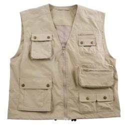 Vest Microfiber, khaki