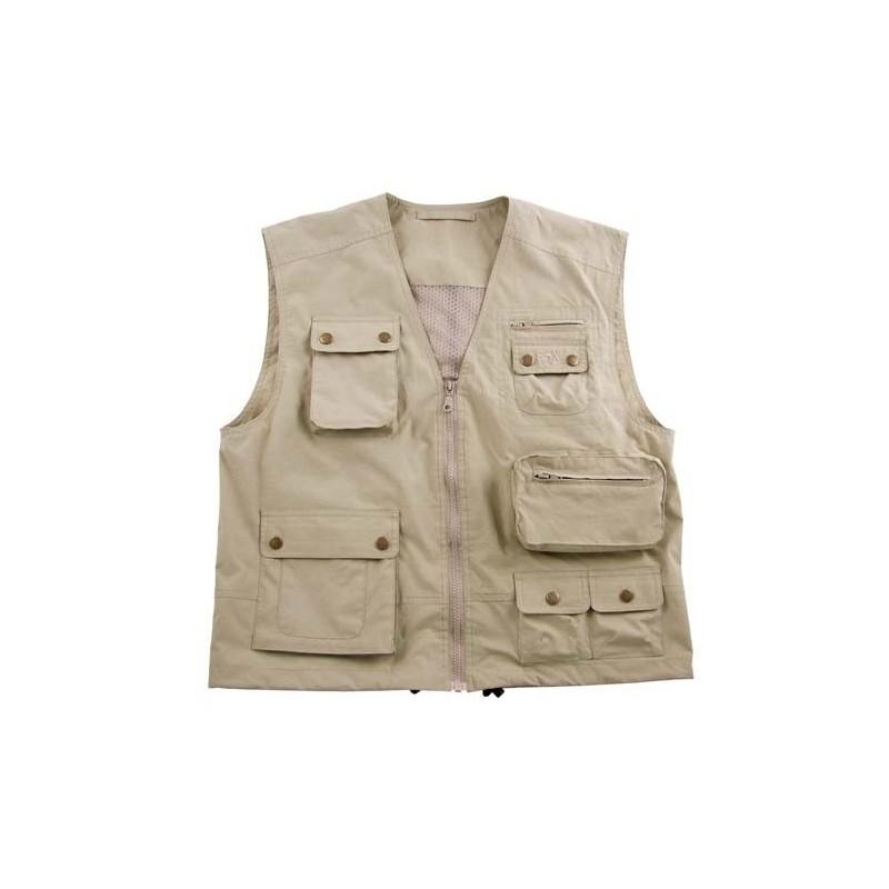 "Outdoor Vest, ""Microfiber"", khaki"