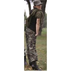 Women BDU style field pants, woodland