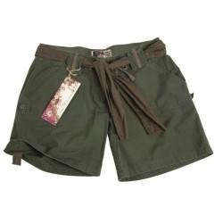 Женщины шорты цвета О.Д. зеленый армии