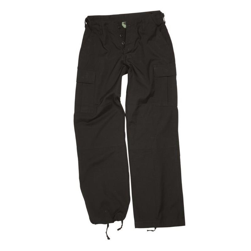 Women BDU style field pants, black