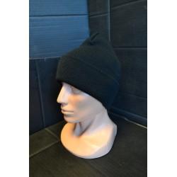 Watch Cap, black, fine knitted, acryl