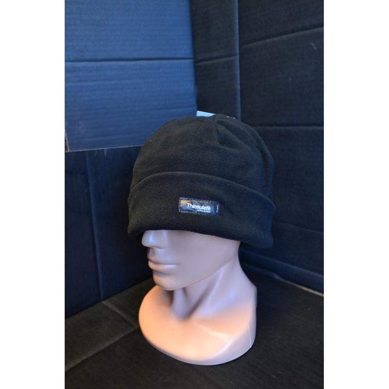 Watch Cap, fleece, black, Thinsulate lining