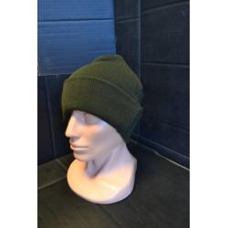 Kootud talvemüts, oliivroheline