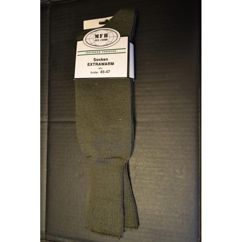 """Socks, """"Extrawarm"""", OD green"""
