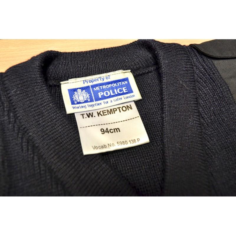 Британский пуловеры, синий, полиция, V-образным вырезом, как новый