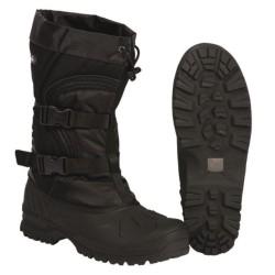 Зимние ботинки снега в Арктике, черный