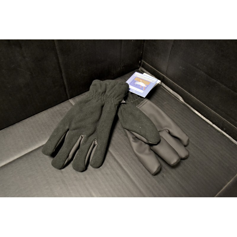 "Fleece Gloves, ""Alpin"", black"