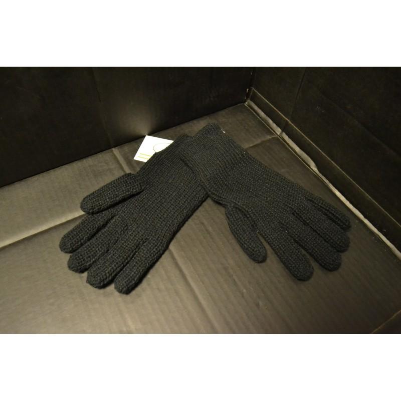 Gloves, knitted, black