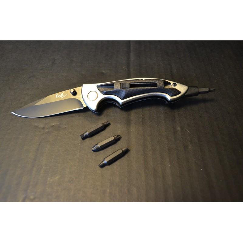 Джек нож, одной рукой, с битами, углерод