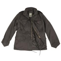 Стиль США M65 поле куртка с подкладкой, черный
