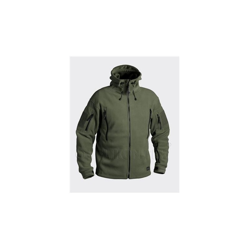 Helikon PATRIOT Jacket - Double Fleece - Olive Green