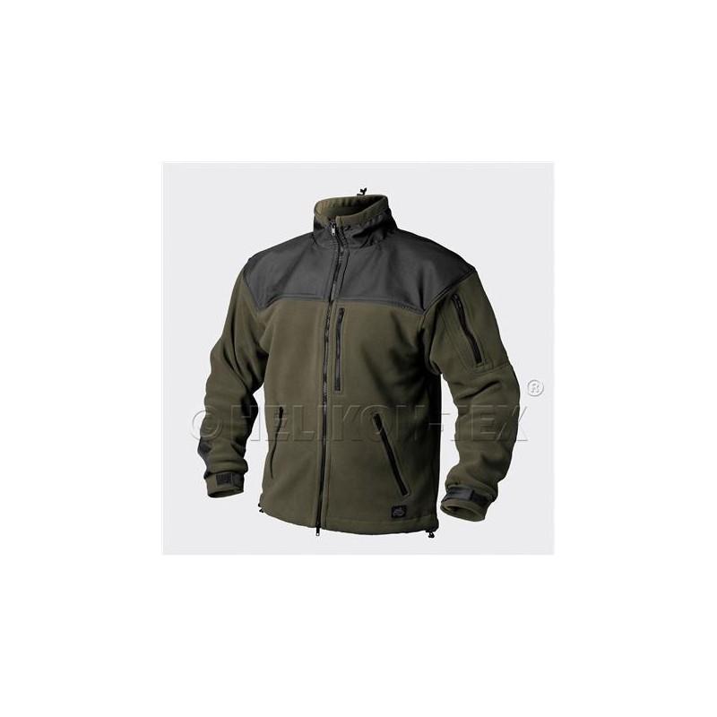 Helikon Classic Army fleece jacket, Olive Green/Black