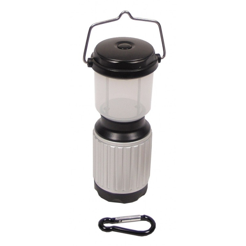 Camping lantern, 17 LED, waterproof, silver-black