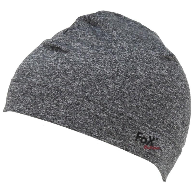"Fox sporting hat ""Run"", grey"