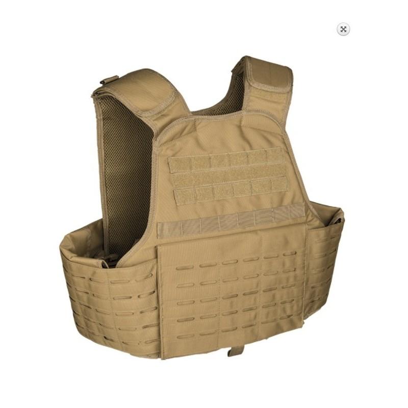 Tactical Carrier Vest Laser cut molle, coyote tan