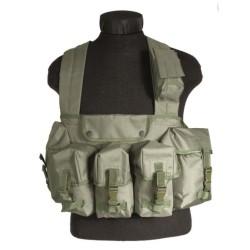Chest rigg vest 6-taskuga, oliivroheline